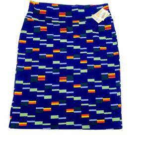 LuLaRoe Cassie Pencil Skirt Multicolor Rectangles
